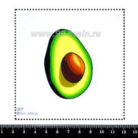 Шаблон для броши Авокадо половинка, фетр Корея Премиум, толщина 1,25 мм, размер 10*10 см 063138 - 99 бусин