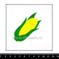 Шаблон для броши Початок кукурузы, фетр Корея Премиум, толщина 1,25 мм, размер 10*10 см 063142 - 99 бусин