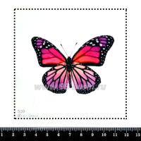 Шаблон для броши Бабочка розовые/сиреневые тона, фетр Корея Премиум, толщина 1,25 мм, размер 10*10 см 063146 - 99 бусин
