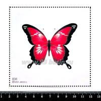 Шаблон для броши Бабочка фуксия, фетр Корея Премиум, толщина 1,25 мм, размер 10*10 см 063147 - 99 бусин