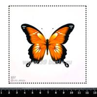 Шаблон для броши Бабочка оранжевая, фетр Корея Премиум, толщина 1,25 мм, размер 10*10 см 063150 - 99 бусин
