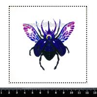 Шаблон для броши Скарабей волшебный, фетр Корея Премиум, толщина 1,25 мм, размер 10*10 см 063154 - 99 бусин