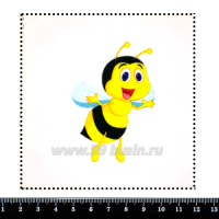 Шаблон для броши Пчёлка Майя, фетр Корея Премиум, толщина 1,25 мм, размер 10*10 см 063157 - 99 бусин