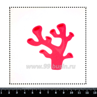 Шаблон для броши Розовый коралл, фетр Корея Премиум, толщина 1,25 мм, размер 10*10 см 063160 - 99 бусин