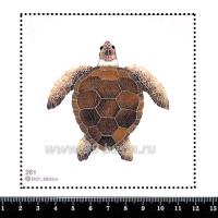 Шаблон для броши Морская черепаха, фетр Корея Премиум, толщина 1,25 мм, размер 10*10 см 063166 - 99 бусин