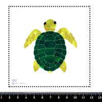 Шаблон для броши Морская черепашка зелёная, фетр Корея Премиум, толщина 1,25 мм, размер 10*10 см 063167 - 99 бусин