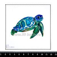 Шаблон для броши Морская черепашка акварельная, фетр Корея Премиум, толщина 1,25 мм, размер 10*10 см 063168 - 99 бусин
