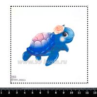 Шаблон для броши Морская черепашка мультяшная, фетр Корея Премиум, толщина 1,25 мм, размер 10*10 см 063169 - 99 бусин