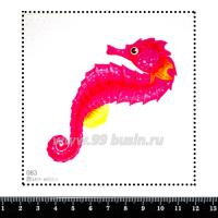 Шаблон для броши Морской конёк розовый, фетр Корея Премиум, толщина 1,25 мм, размер 10*10 см 063173 - 99 бусин