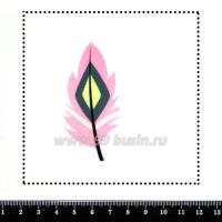 Шаблон для броши Пёрышко, фетр Корея Премиум, толщина 1,25 мм, размер 10*10 см 063174 - 99 бусин