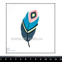 Шаблон для броши Перо трёхцветное, фетр Корея Премиум, толщина 1,25 мм, размер 10*10 см 063175 - 99 бусин