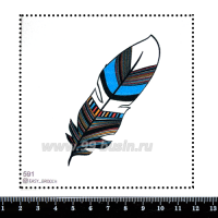 Шаблон для броши Перо индейца, фетр Корея Премиум, толщина 1,25 мм, размер 10*10 см 063176 - 99 бусин