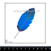 Шаблон для броши Синее перо, фетр Корея Премиум, толщина 1,25 мм, размер 10*10 см 063177 - 99 бусин
