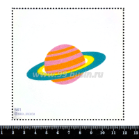 Шаблон для броши Сатурн, фетр Корея Премиум, толщина 1,25 мм, размер 10*10 см 063178 - 99 бусин