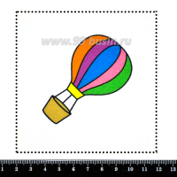 Шаблон для броши Воздушный шар, фетр Корея Премиум, толщина 1,25 мм, размер 10*10 см 063179 - 99 бусин
