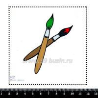 Шаблон для броши Кисточки в красках, фетр Корея Премиум, толщина 1,25 мм, размер 10*10 см 063180 - 99 бусин