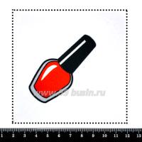 Шаблон для броши Красный лак, фетр Корея Премиум, толщина 1,25 мм, размер 10*10 см 063181 - 99 бусин
