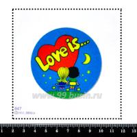 Шаблон для броши Love is..., фетр Корея Премиум, толщина 1,25 мм, размер 10*10 см 063187 - 99 бусин