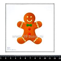 Шаблон для броши Пряничный человечек, фетр Корея Премиум, толщина 1,25 мм, размер 10*10 см 063198 - 99 бусин