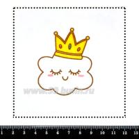 Шаблон для броши Облачко в короне, фетр Корея Премиум, толщина 1,25 мм, размер 10*10 см 063199 - 99 бусин