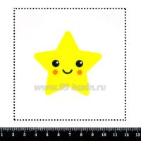 Шаблон для броши Звёздочка с личиком, фетр Корея Премиум, толщина 1,25 мм, размер 10*10 см 063200 - 99 бусин