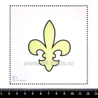 Шаблон для броши Флёр де Лис, фетр Корея Премиум, толщина 1,25 мм, размер 10*10 см 063207 - 99 бусин