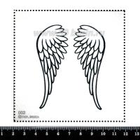 Шаблон для броши Крылья ангела, фетр Корея Премиум, толщина 1,25 мм, размер 10*10 см 063208 - 99 бусин