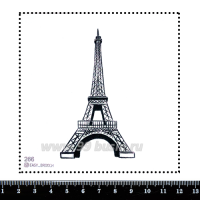 Шаблон для броши Эйфелева башня, фетр Корея Премиум, толщина 1,25 мм, размер 10*10 см 063209 - 99 бусин