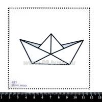 Шаблон для броши Кораблик оригами, фетр Корея Премиум, толщина 1,25 мм, размер 10*10 см 063210 - 99 бусин