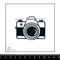 Шаблон для броши Фотоаппарат, фетр Корея Премиум, толщина 1,25 мм, размер 10*10 см 063211 - 99 бусин