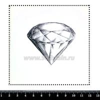 Шаблон для броши Бриллиант, фетр Корея Премиум, толщина 1,25 мм, размер 10*10 см 063212 - 99 бусин