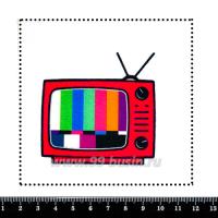 Шаблон для броши Ретро ТВ, фетр Корея Премиум, толщина 1,25 мм, размер 10*10 см 063213 - 99 бусин