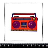 Шаблон для броши Магнитофон, фетр Корея Премиум, толщина 1,25 мм, размер 10*10 см 063214 - 99 бусин