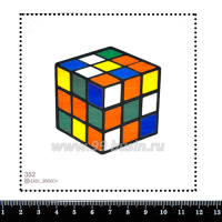 Шаблон для броши Кубик Рубика, фетр Корея Премиум, толщина 1,25 мм, размер 10*10 см 063216 - 99 бусин