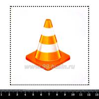 Шаблон для броши Дорожный конус, фетр Корея Премиум, толщина 1,25 мм, размер 10*10 см 063221 - 99 бусин