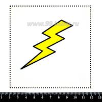 Шаблон для броши Молния, фетр Корея Премиум, толщина 1,25 мм, размер 10*10 см 063228 - 99 бусин