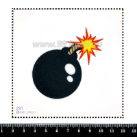 Шаблон для броши Бомба, фетр Корея Премиум, толщина 1,25 мм, размер 10*10 см 063229 - 99 бусин