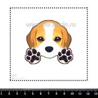 Шаблон для броши Бигль 651, фетр Корея Премиум, толщина 1,25 мм, размер 10*10 см 063251 - 99 бусин
