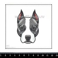 Шаблон для броши Питбуль 072, фетр Корея Премиум, толщина 1,25 мм, размер 10*10 см 063255 - 99 бусин