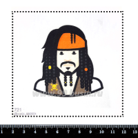 Шаблон для броши Джек Воробей 721, фетр Корея Премиум, толщина 1,25 мм, размер 10*10 см 063271 - 99 бусин