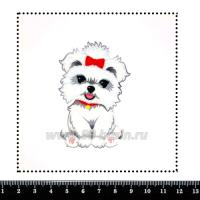 Шаблон для броши Болонка, фетр Корея Премиум, толщина 1,25 мм, размер 10*10 см 063286 - 99 бусин