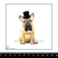 Шаблон для броши Бульдог с бабочкой, фетр Корея Премиум, толщина 1,25 мм, размер 10*10 см 063287 - 99 бусин