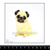 Шаблон для броши Мопсик, фетр Корея Премиум, толщина 1,25 мм, размер 10*10 см 063288 - 99 бусин