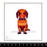 Шаблон для броши Такса, фетр Корея Премиум, толщина 1,25 мм, размер 10*10 см 063289 - 99 бусин