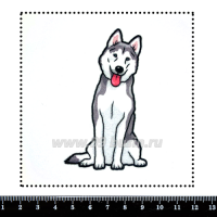 Шаблон для броши Хаски, фетр Корея Премиум, толщина 1,25 мм, размер 10*10 см 063295 - 99 бусин