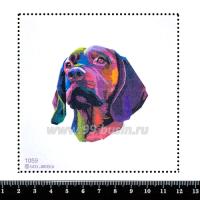 Шаблон для броши Собака краскамии, фетр Корея Премиум, толщина 1,25 мм, размер 10*10 см 063298 - 99 бусин