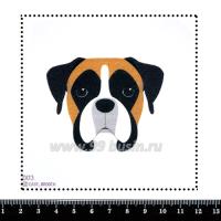 Шаблон для броши Мордочка бульдога, фетр Корея Премиум, толщина 1,25 мм, размер 10*10 см 063301 - 99 бусин