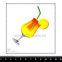 "Шаблон для броши Коктейль ""Цитрусовый микс"", фетр Корея Премиум, толщина 1,25 мм, размер 10*10 см 063306 - 99 бусин"