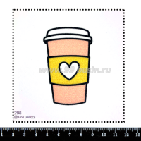 Шаблон для броши Стакан кофе, фетр Корея Премиум, толщина 1,25 мм, размер 10*10 см 063307 - 99 бусин