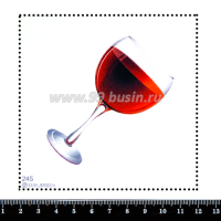 Шаблон для броши Бокал красного полусладкого, фетр Корея Премиум, толщина 1,25 мм, размер 10*10 см 063310 - 99 бусин